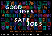 Workers' Memorial Day poster